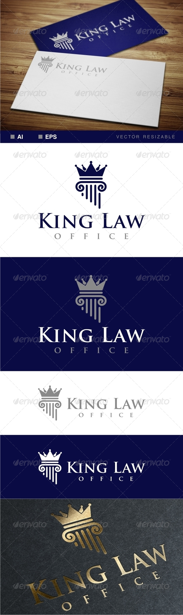 GraphicRiver King Law Office Logo 7067636
