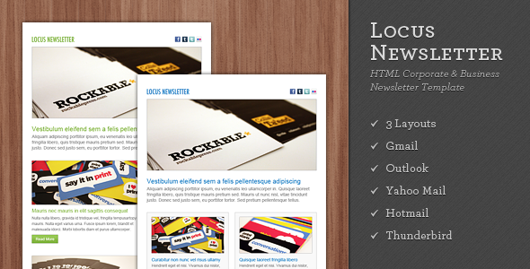 Locus Newsletter - Newsletters Email Templates