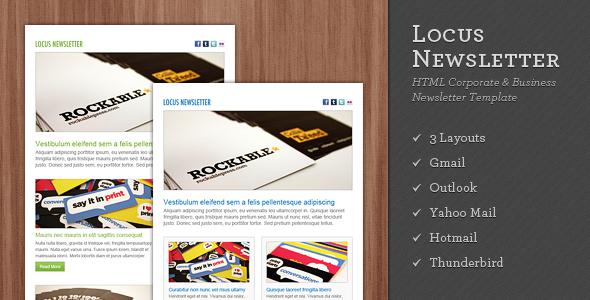 ThemeForest Locus Newsletter 101627