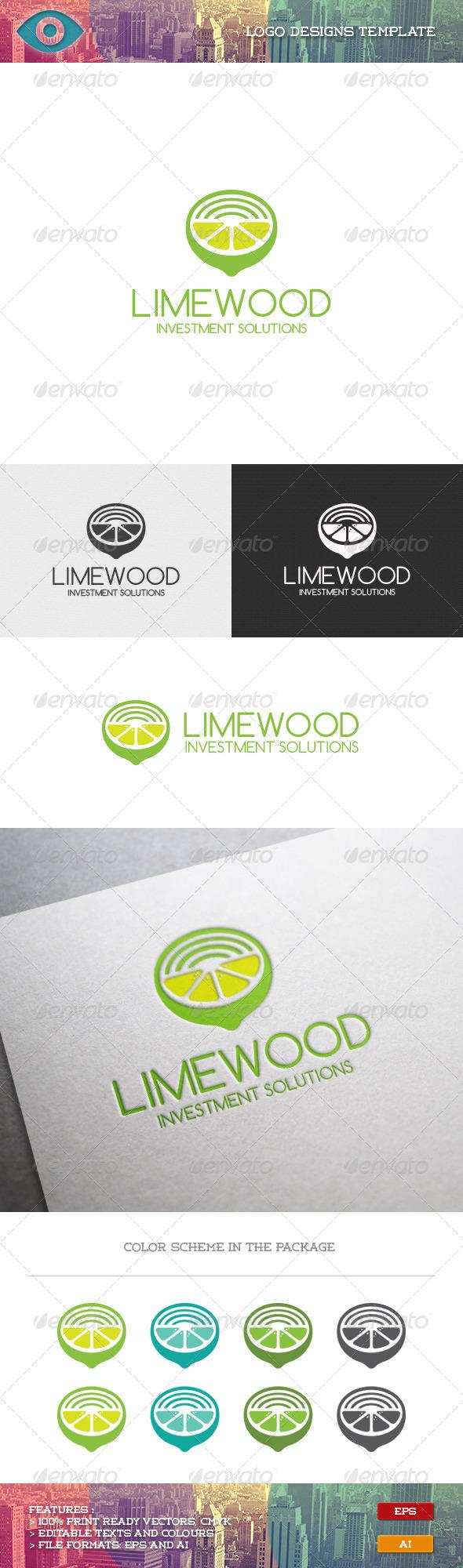 GraphicRiver Lime Wood Logo 7067656