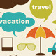 Design Eements Related To Travel And Vacation - GraphicRiver Item for Sale