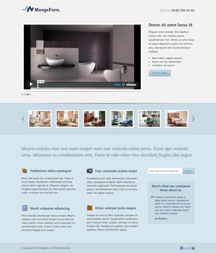 MeegoFurn. - Corporate Landing Page