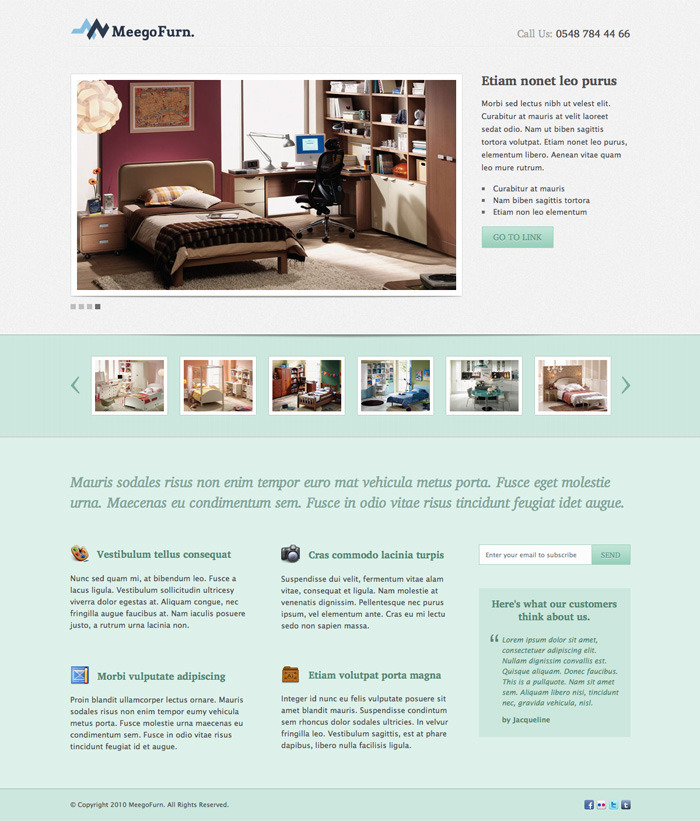 MeegoFurn. - Corporate Landing Page