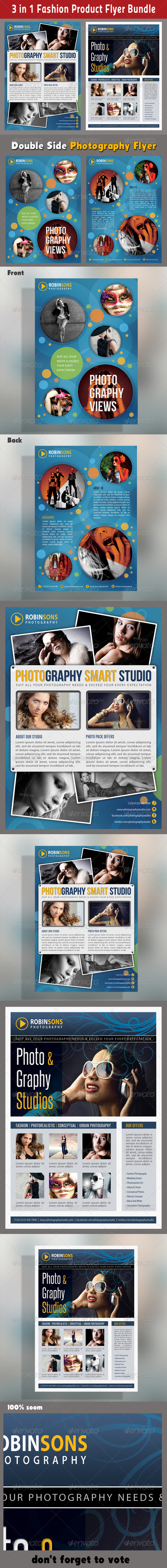 GraphicRiver 3 in 1 Fashion Product Flyer Bundle 13 7067703