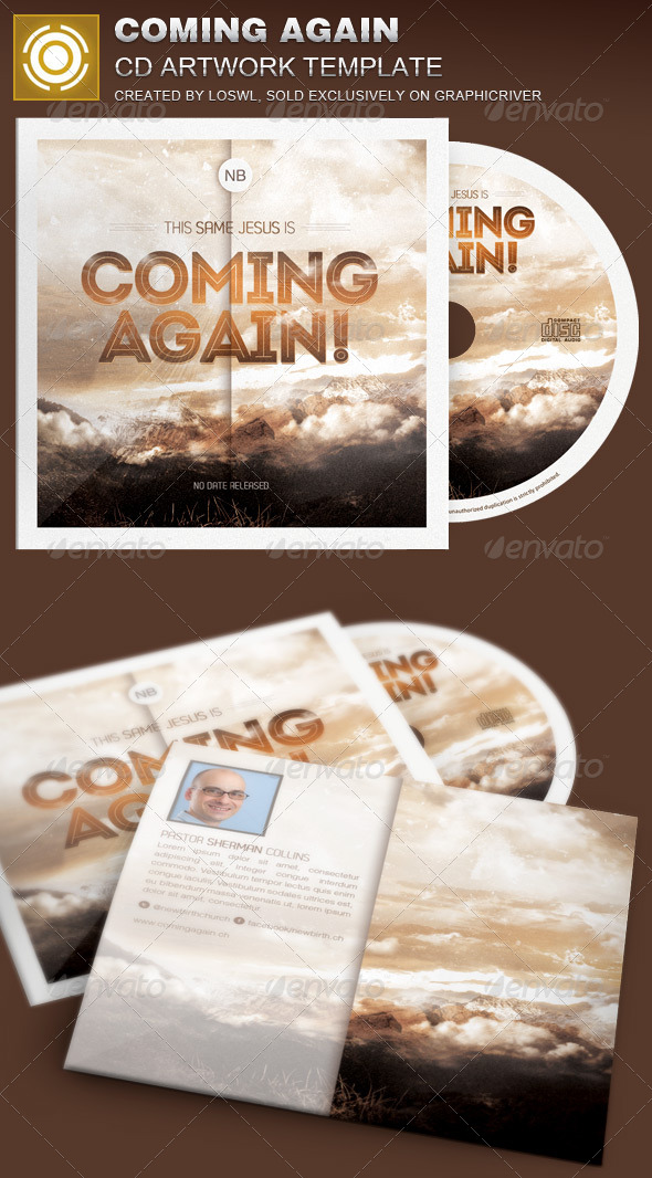 GraphicRiver Coming Again CD Artwork Template 7067748