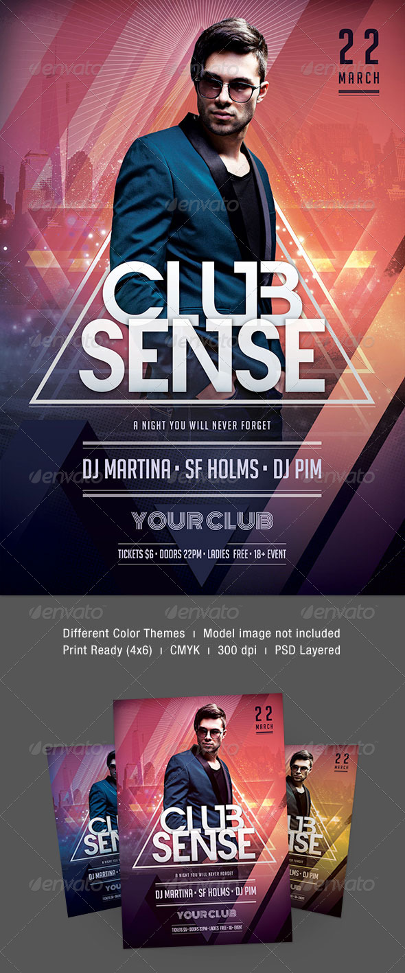 Club Sense Flyer - Clubs & Parties Events