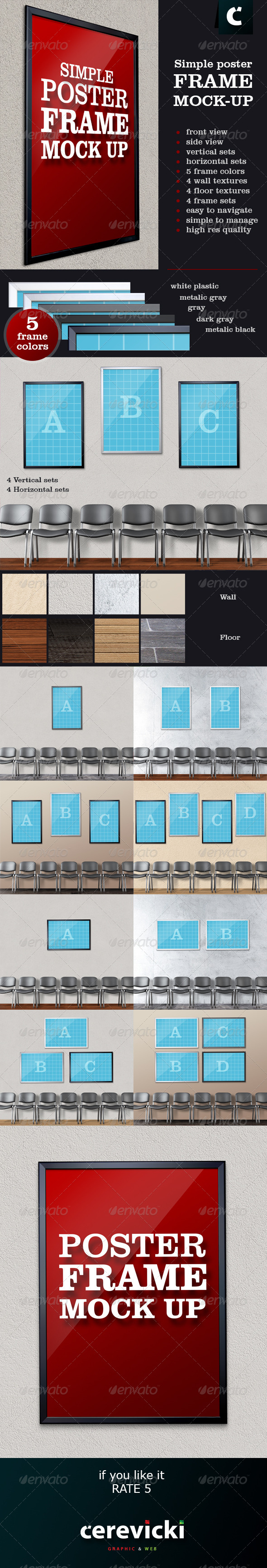 GraphicRiver Simple Poster Frame Mock-Up 7059662
