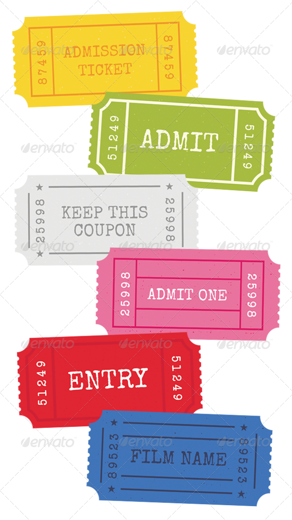 GraphicRiver Admission Tickets Vector 741042