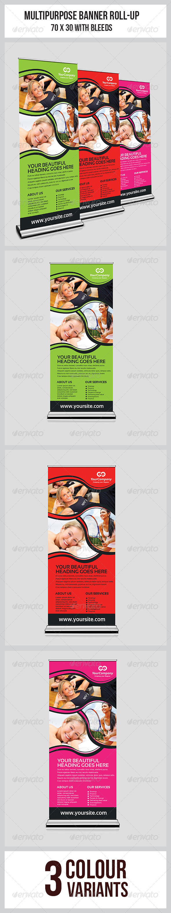 GraphicRiver Multipurpose Business Roll-Up 7048288