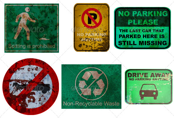 22 Traffic Sign Textures - 3DOcean Item for Sale