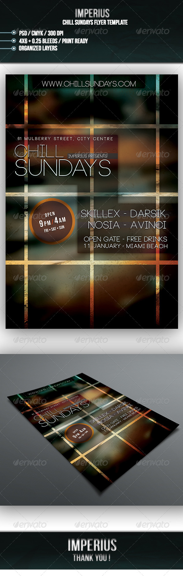 GraphicRiver Chill Sundays Flyer 7067950