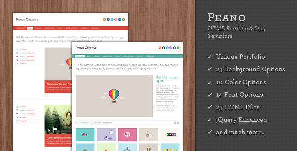 Peano Creative - HTML Portfolio & Blog Template