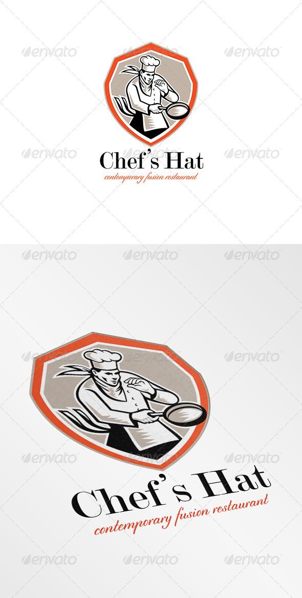 GraphicRiver Chef Hat Contemporary Fusion Restaurant Logo 7068018