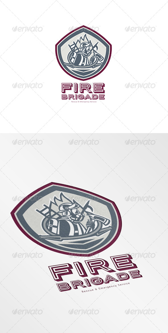GraphicRiver Fire Brigade Rescue and Emergency Services Logo 7068022