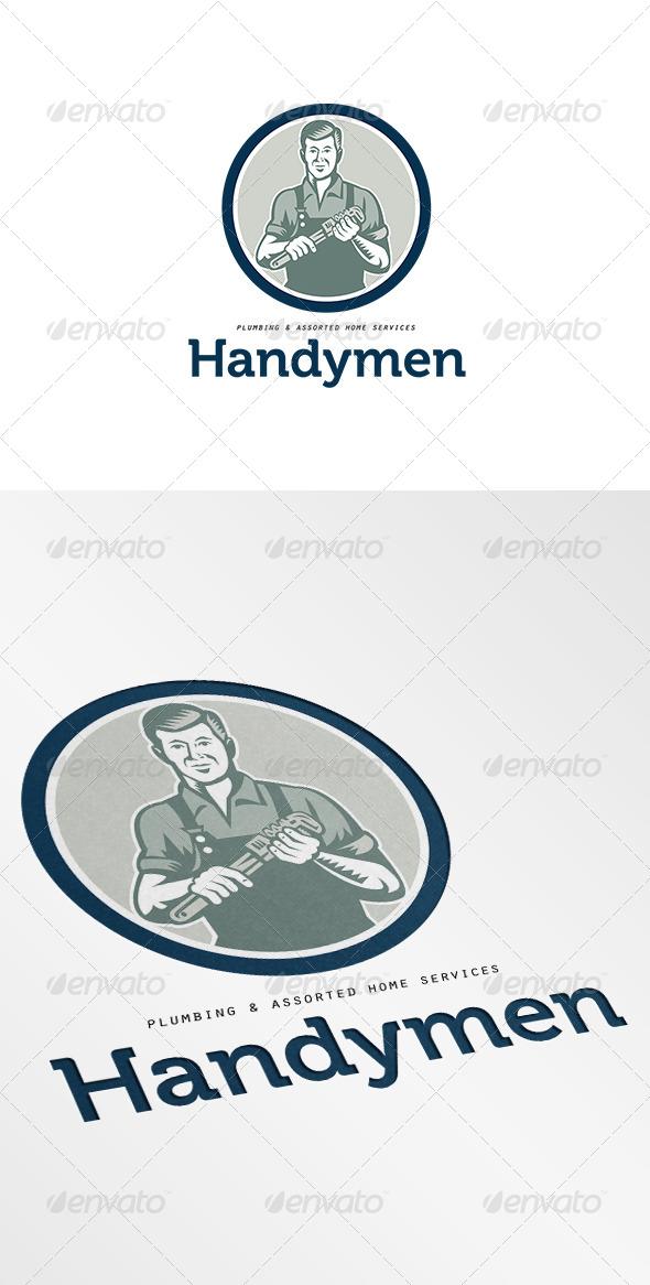 GraphicRiver Handymen Plumbing Services Logo 7068050