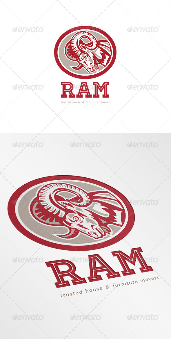 GraphicRiver Ram Trusted House and Furniture Movers Logo 7068094