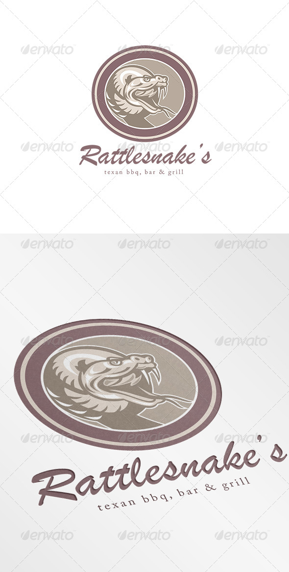 GraphicRiver Rattle Snake Texan BBQ Bar and Grill Logo 7068139