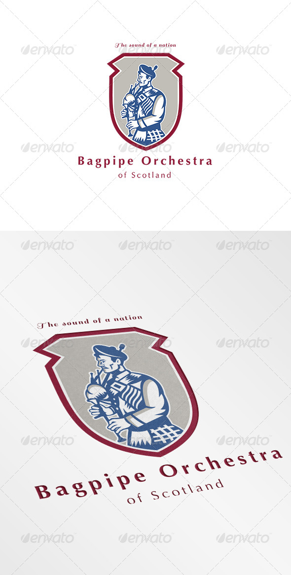 GraphicRiver Bagpipe Orchestra of Scotland Logo 7068148