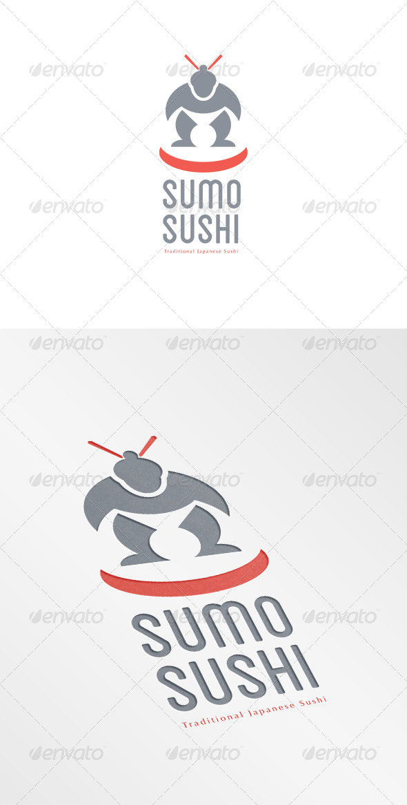 GraphicRiver Sumo Sushi Traditional Japanese Logo 7068164