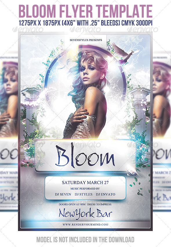 Bloom Flyer Template - Flyers Print Templates