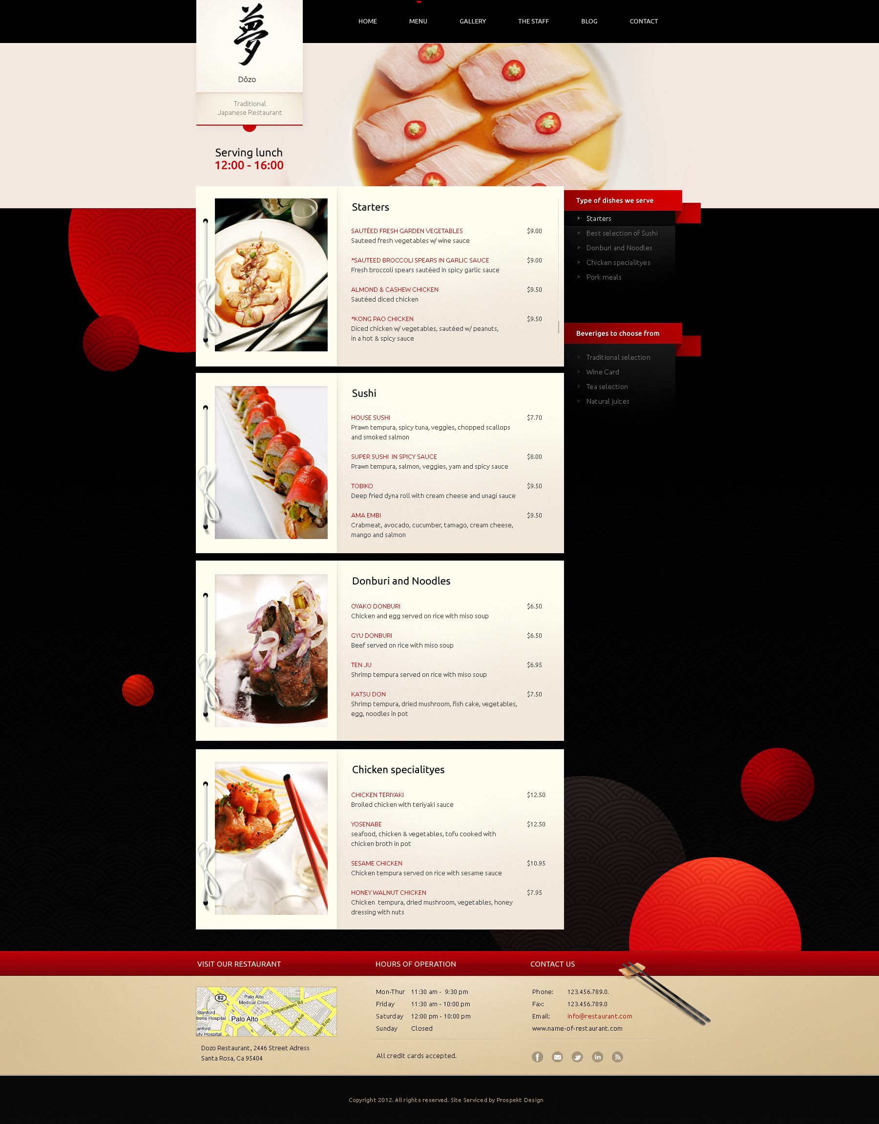 Taste of Japan - Restaurant / Food Wordpress Theme