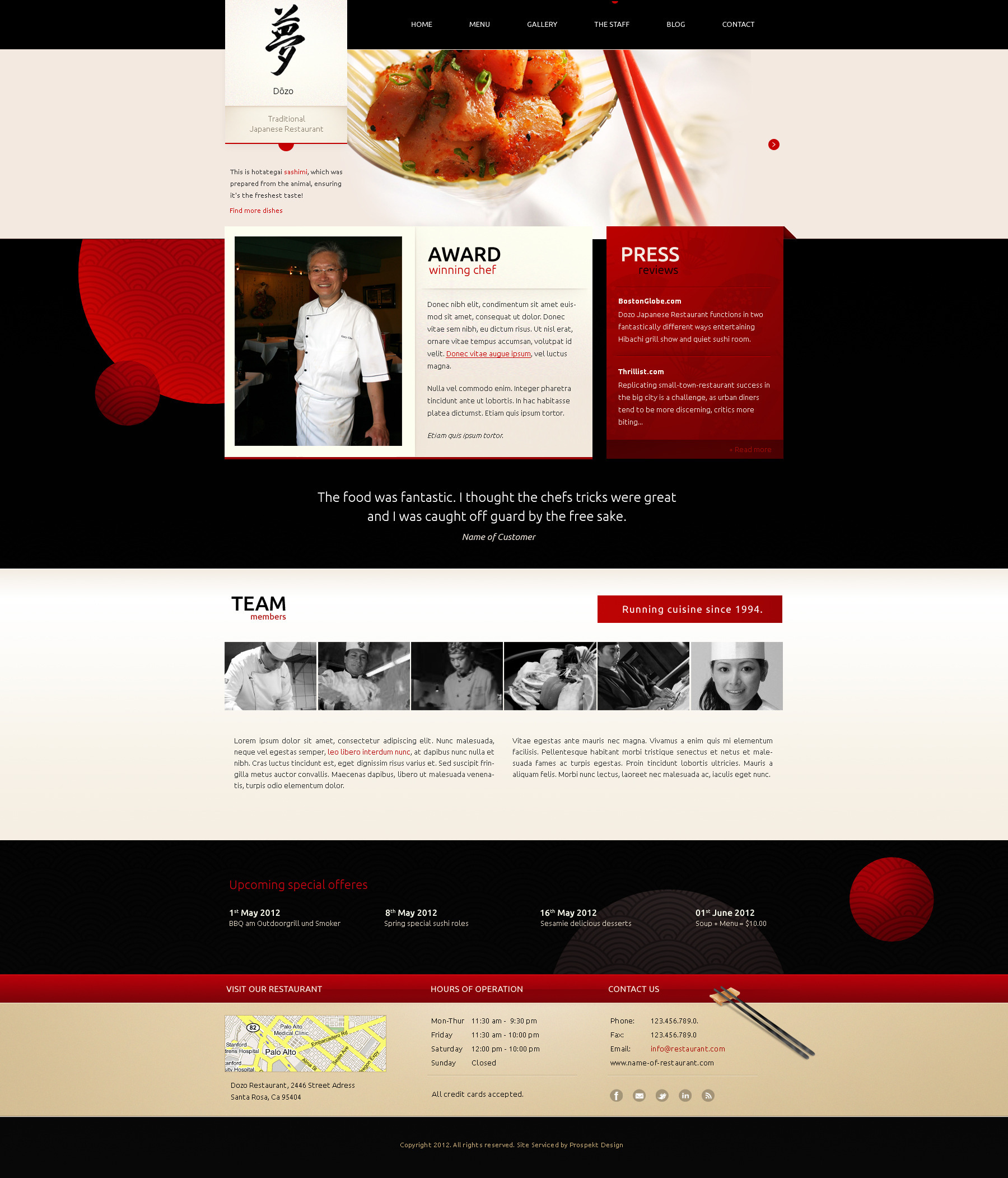 Taste of Japan - Restaurant / Food Wordpress Theme