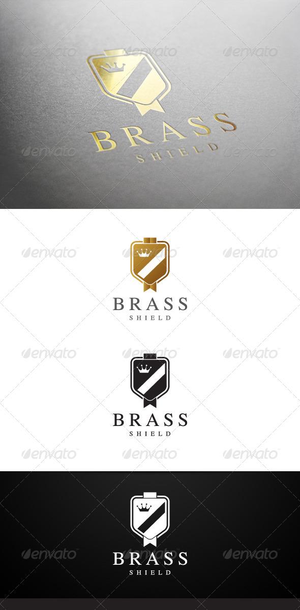 GraphicRiver Brass Shield Logo 7068215