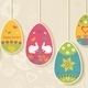 Easter Background with Eggs Hanging on Ropes - GraphicRiver Item for Sale