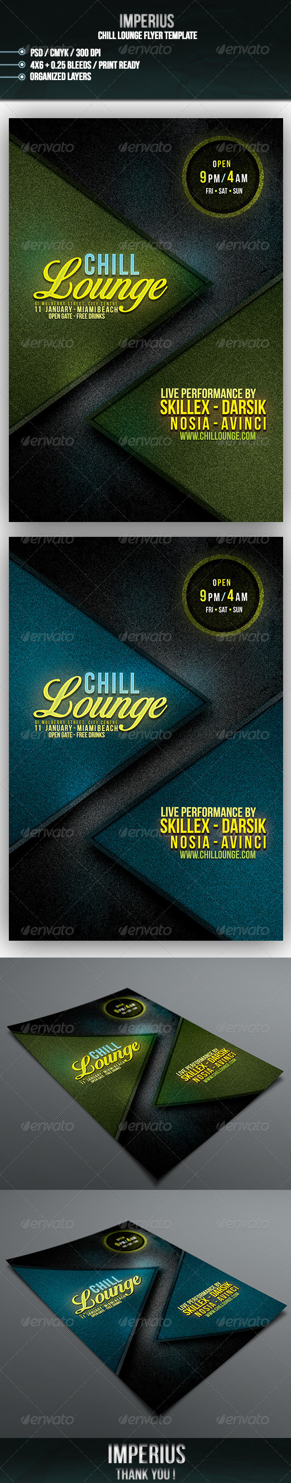 GraphicRiver Chill Lounge Flyer 7068374