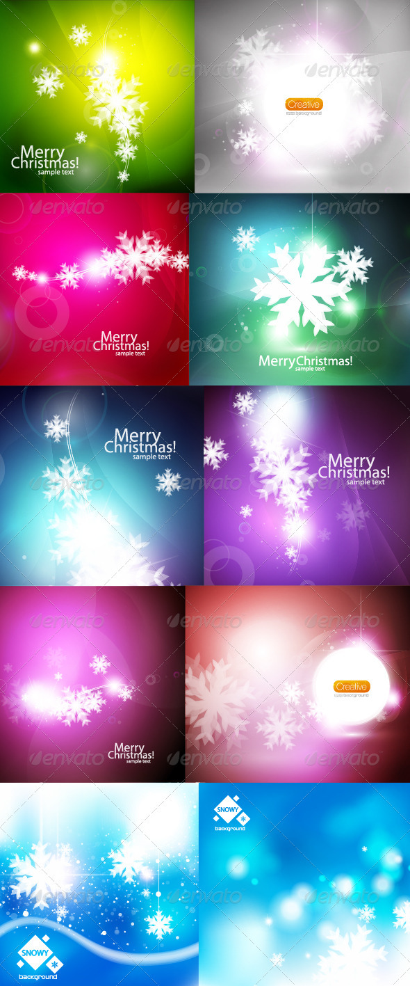 GraphicRiver Christmas Megapack 741752
