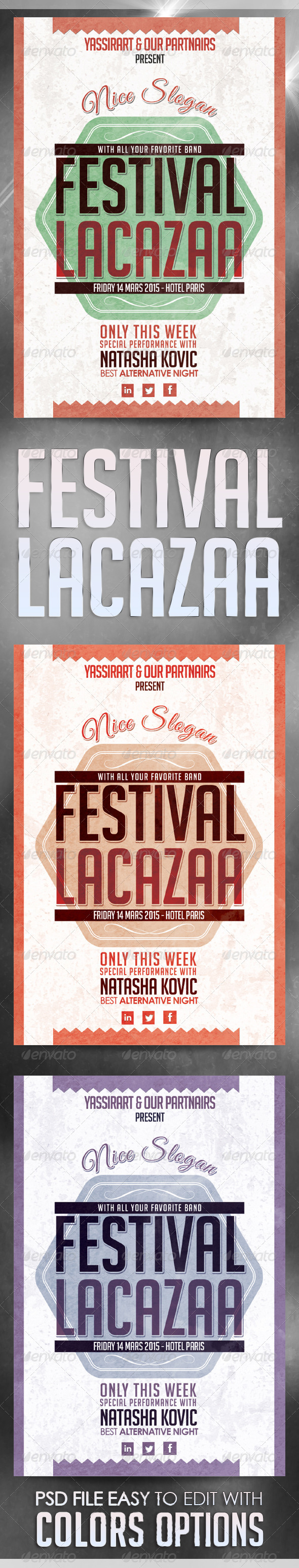 GraphicRiver Festival Lacasaa Flyer Template 7068427