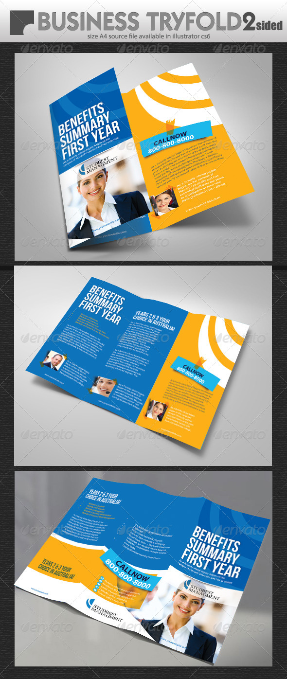 GraphicRiver Corporate Business Trifold Brochure 7068474