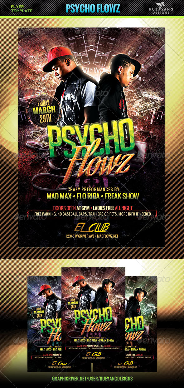 GraphicRiver Psycho Flowz Flyer 7068504