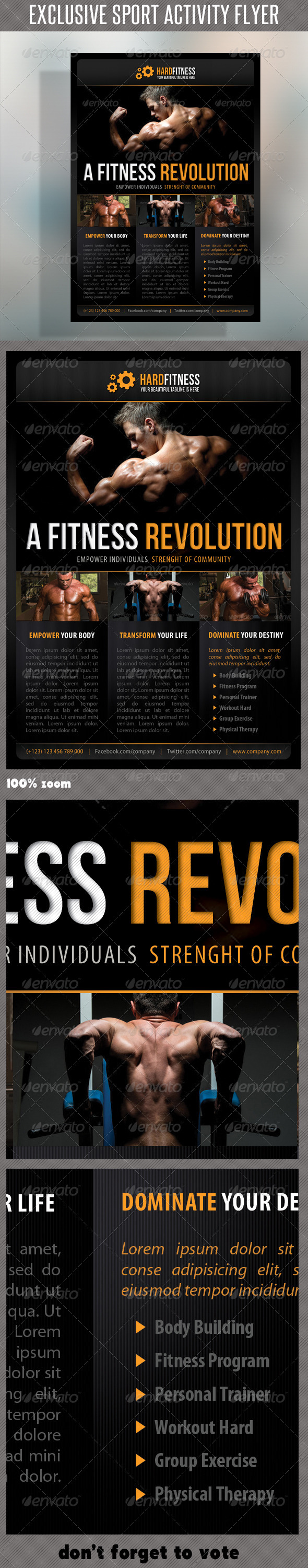 GraphicRiver Sport Multipurpose Flyer 14 7068541