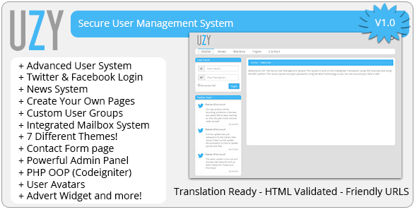 CodeCanyon UZY Secure PHP User Management System 7068585