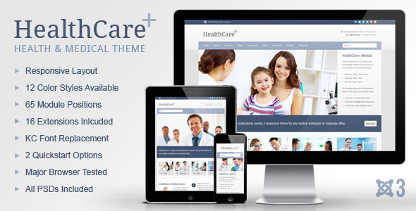 HealthCare+ Medical & Health Joomla Theme - Corporate Joomla