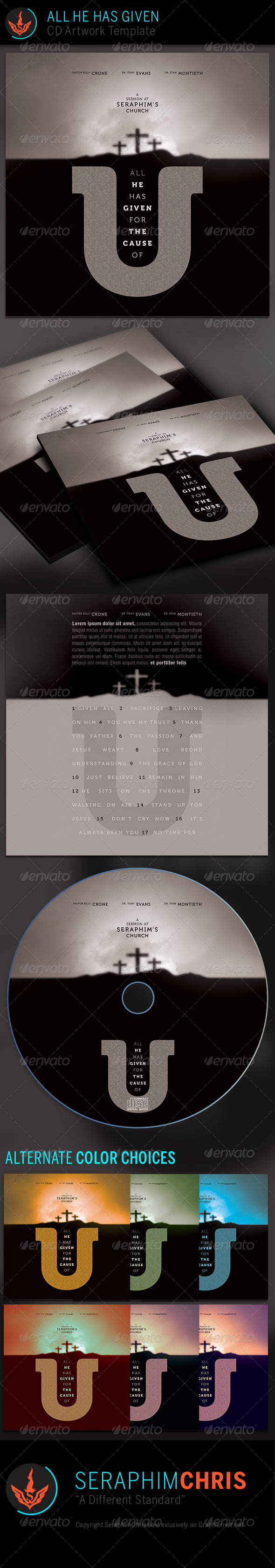 GraphicRiver All He Has Given CD Artwork Template 7068717