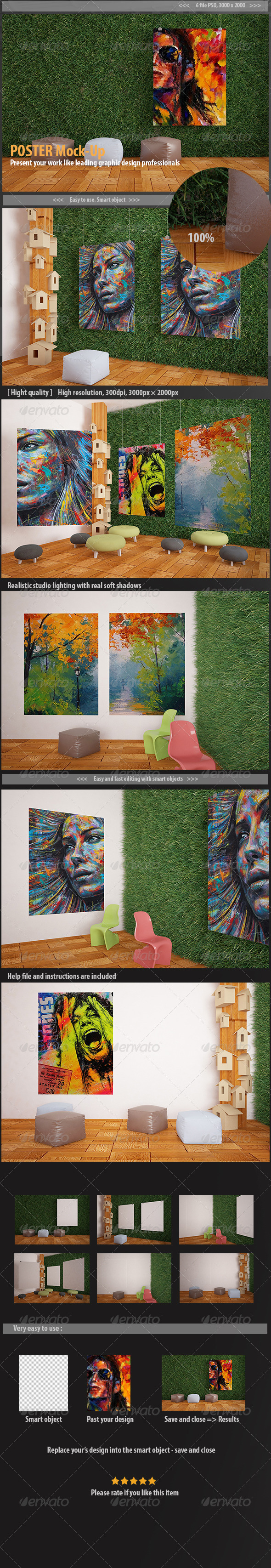 GraphicRiver Poster Mockups 7068802