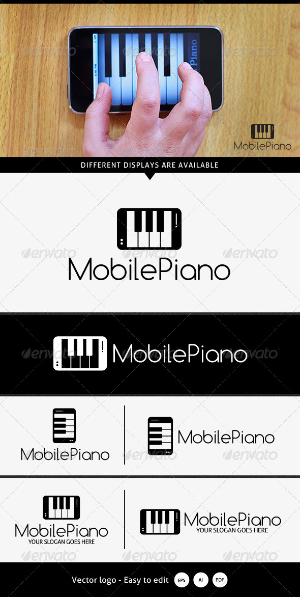 GraphicRiver Mobile Piano Logo 5367970
