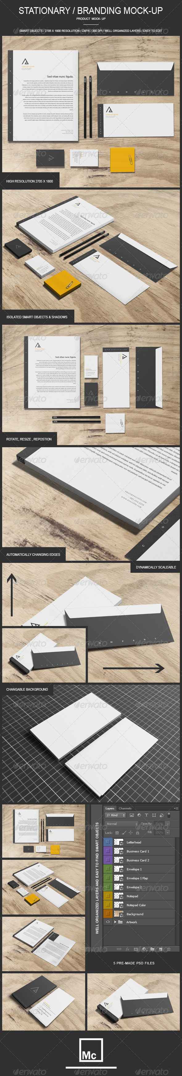 GraphicRiver Stationary Branding Mock-Up 7069054