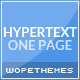 Hypertext - One Page Flat Wordpress Theme - ThemeForest Item for Sale