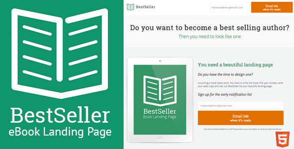 BestSeller - HTML eBook Landing Page