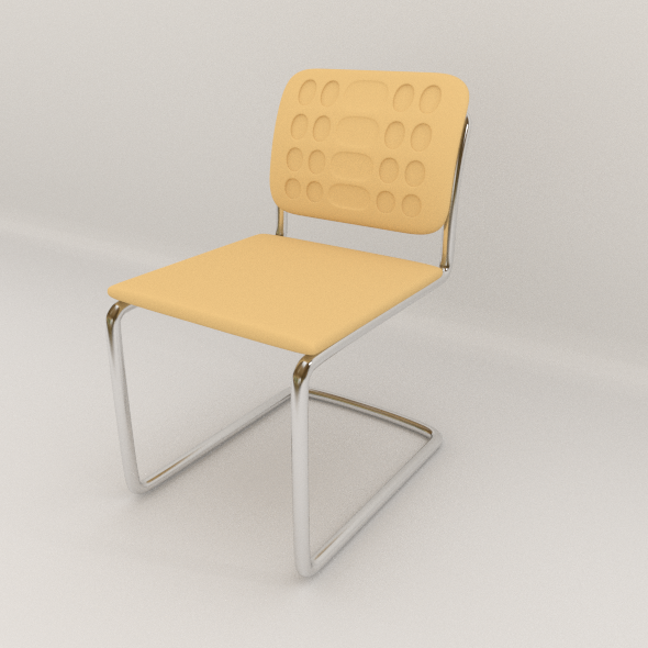 3DOcean Office Steel Chair 7069130
