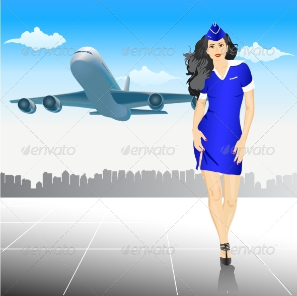 GraphicRiver Stewardess at the Airport 7069535