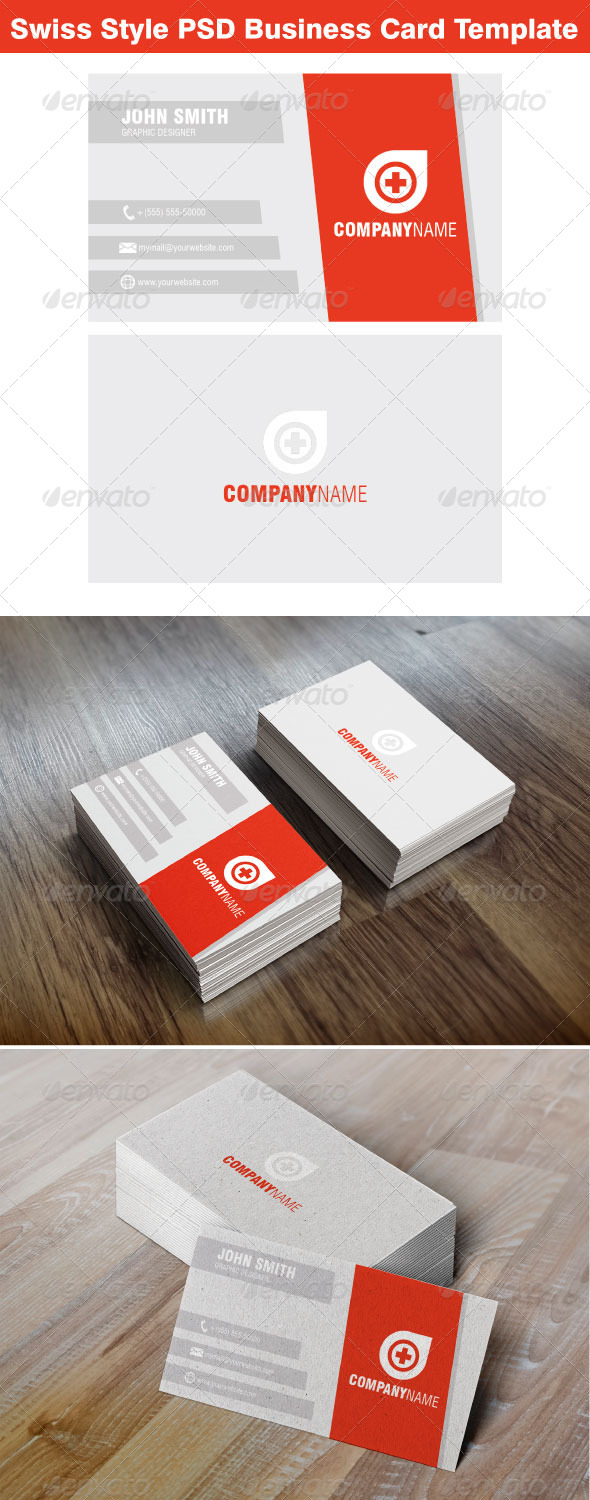 GraphicRiver Swiss Style Business Card Template 7069536