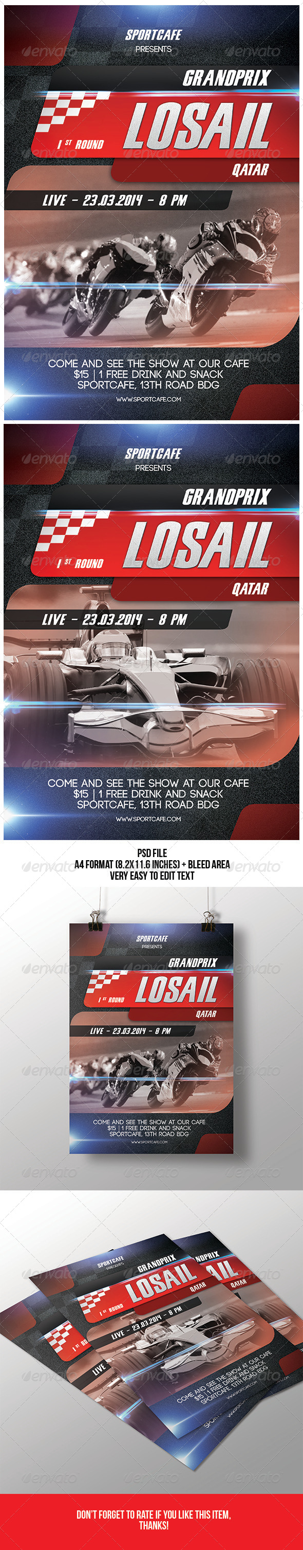 GraphicRiver Racing Flyer 7069603