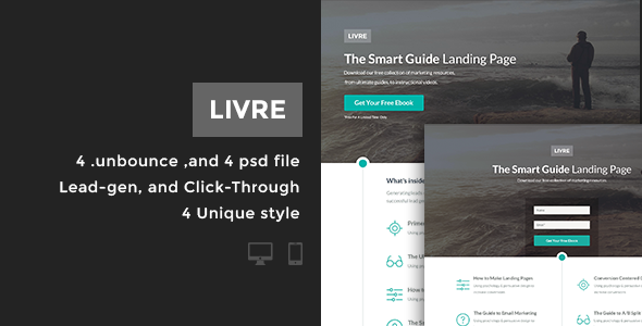 Livre - Bundle Unbounce pages - Unbounce Landing Pages Marketing