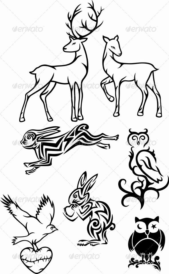 GraphicRiver Tribal Animals 7069661