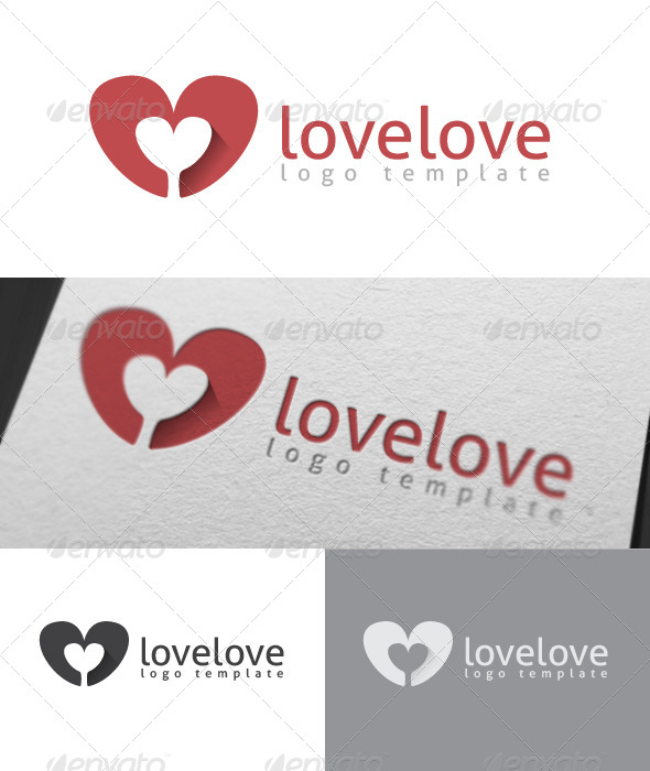 GraphicRiver Lovelove Logo Template 7069923