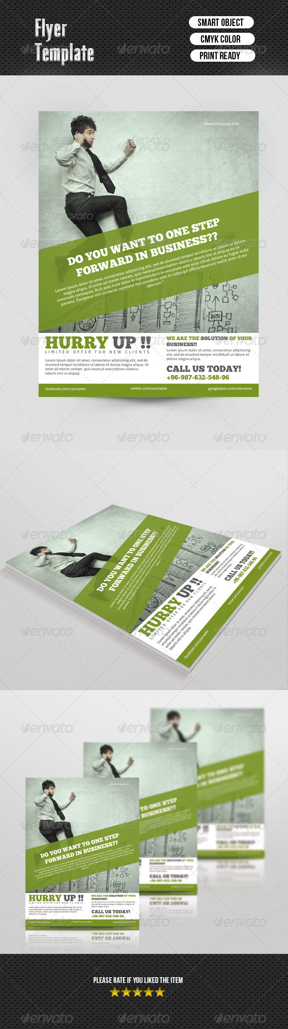 GraphicRiver Corporate Flyer Template 7043486